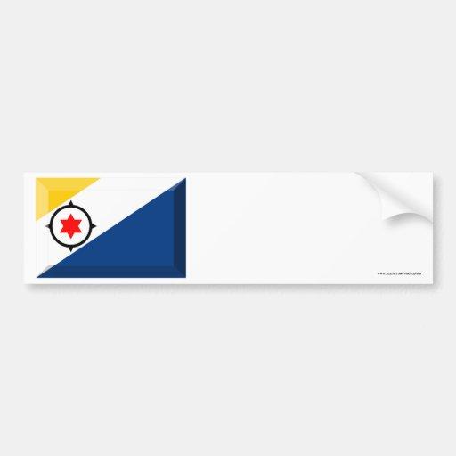Bonaire Flag Jewel Bumper Sticker
