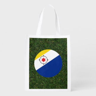 Bonaire Flag on Grass Grocery Bag
