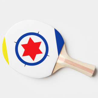 Bonaire Flag Ping Pong Paddle