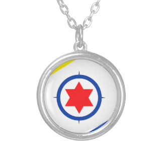 Bonaire Flag Silver Plated Necklace