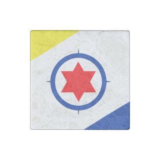 Bonaire Flag Stone Magnet