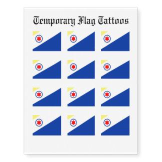 Bonaire Flag Temporary Tattoos