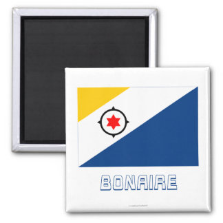 Bonaire Flag with Name Magnet