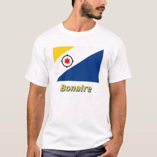 Bonaire Flag with Name T-Shirt
