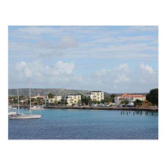 Bonaire Kralendijk Harbor Sailing Boats Postcard