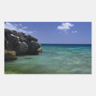 Bonaire Ocean Rectangular Sticker