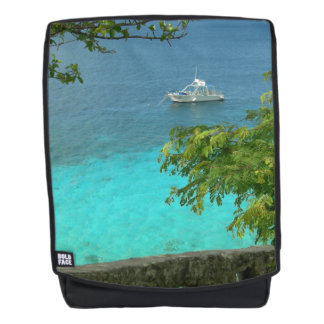 Bonaire Ocean View with Boat Adult Backpack
