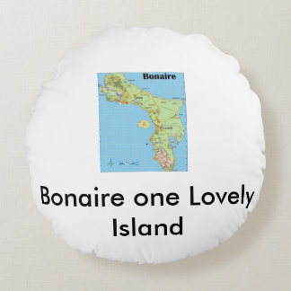 Bonaire one Lovely Island Round Pillow