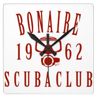 Bonaire Scuba Club Square Wall Clock