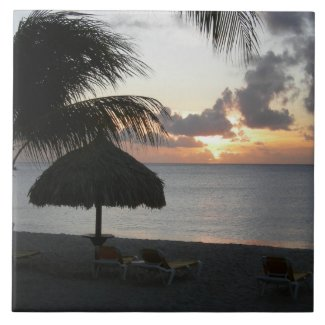Bonaire Sunset Ceramic Tile