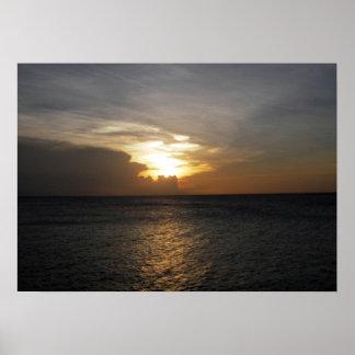 Bonaire Sunset Poster