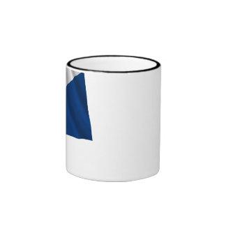 Bonaire Waving Flag Ringer Mug