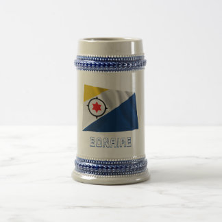 Bonaire Waving Flag with Name Beer Stein
