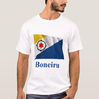 Bonaire Waving Flag with Name in Papiamento T-Shirt