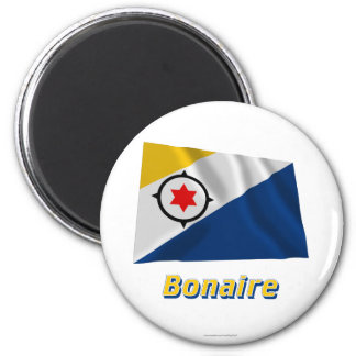 Bonaire Waving Flag with Name Magnet