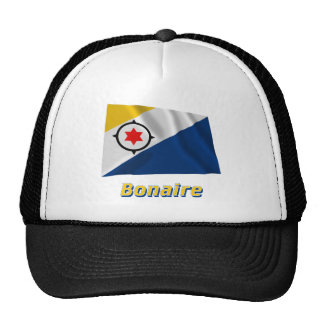 Bonaire Waving Flag with Name Trucker Hat