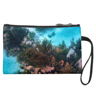 Bonairean Reef Suede Wristlet