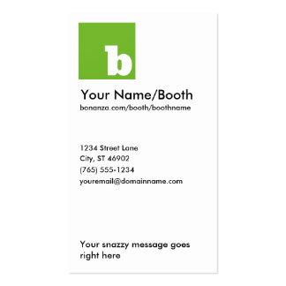 Bonanza Vertical Grassy Business Card