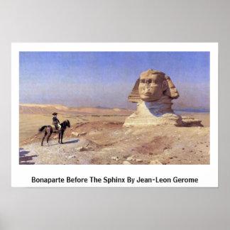 Bonaparte antes de la esfinge por Jean-León Gerome Póster