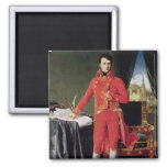 Bonaparte como primero cónsul, 1804 imán cuadrado
