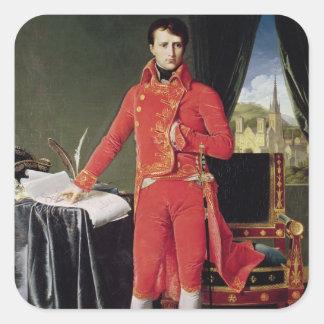 Bonaparte como primero cónsul, 1804 pegatina cuadrada