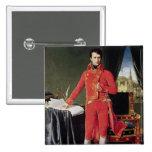 Bonaparte como primero cónsul, 1804 pin cuadrado
