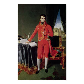 Bonaparte como primero cónsul, 1804 póster