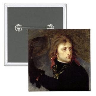 Bonaparte en el puente de Arcole Pin Cuadrada 5 Cm