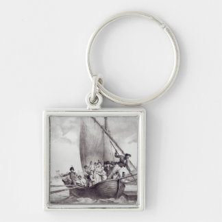 Bonaparte family arriving in Toulon Silver-Colored Square Keychain