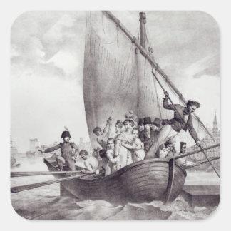 Bonaparte family arriving in Toulon Square Sticker