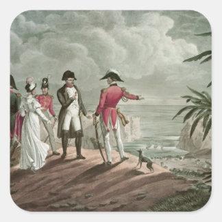 Bonaparte on St. Helena Square Sticker