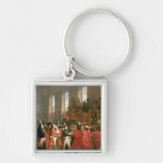 Bonaparte y consejo de quinientos en el St. Llavero Cuadrado Plateado