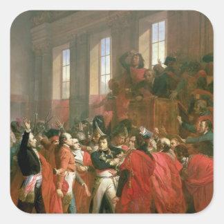 Bonaparte y consejo de quinientos en el St. Calcomanías Cuadradas Personalizadas