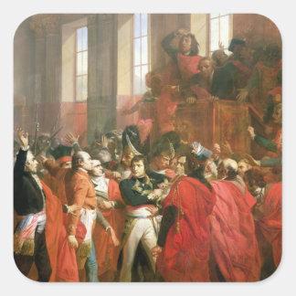 Bonaparte y consejo de quinientos en el St. Calcomanía Cuadrada