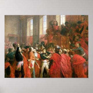 Bonaparte y consejo de quinientos en el St. Póster