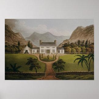Bonaparte's Mal-Maison at St. Helena, 1821 Poster