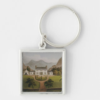 Bonaparte's Mal-Maison at St. Helena, 1821 Silver-Colored Square Keychain