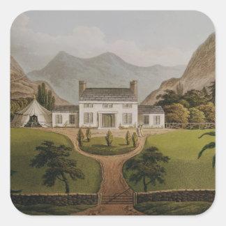 Bonaparte's Mal-Maison at St. Helena, 1821 Square Sticker