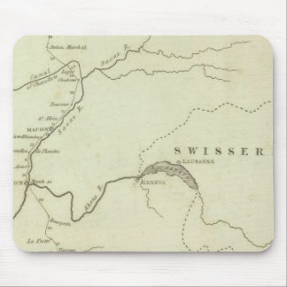 Bonaparte's Route from Elba to Paris Mouse Pad
