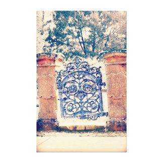 Bonaventure cemetary gate canvas print