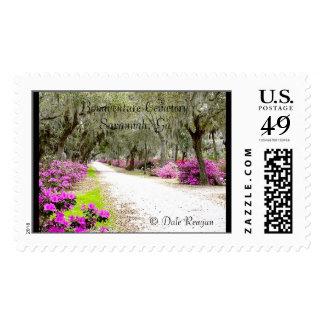 Bonaventure Cemetery - Azaleas Postage Stamps