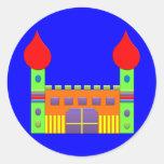 Bonbon Fantasy Magic Castell Round Stickers
