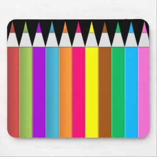 BonBon Fantasy Rainbow Colors Crayons Mouse Pad