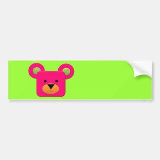 BonBon Fantasy Rainbow Pinky Teddy Car Bumper Sticker