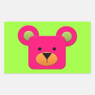 BonBon Fantasy Rainbow Pinky Teddy Rectangular Sticker