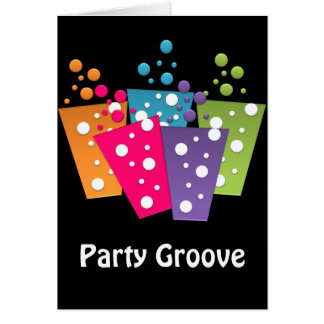 BonBon Party Funky Groove Party Drinks Card