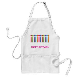 BonBon Party Happy Birthday colorful candels Apron