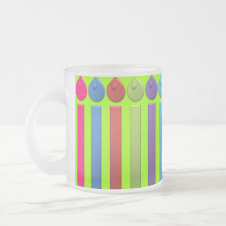BonBon Party Happy Birthday colorful candels Frosted Glass Coffee Mug