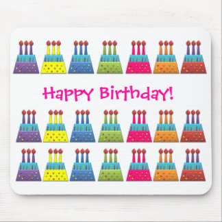 BonBon Party Happy Birthday colorful candels Mouse Pad