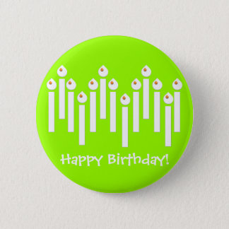 BonBon Party Happy Birthday colorful candels Pinback Button